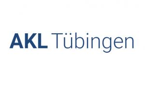 Arbeitskreis Leben Reutlingen / Tübingen Beratungsstelle. Blaue Schrift auf weißem Hintergrund.